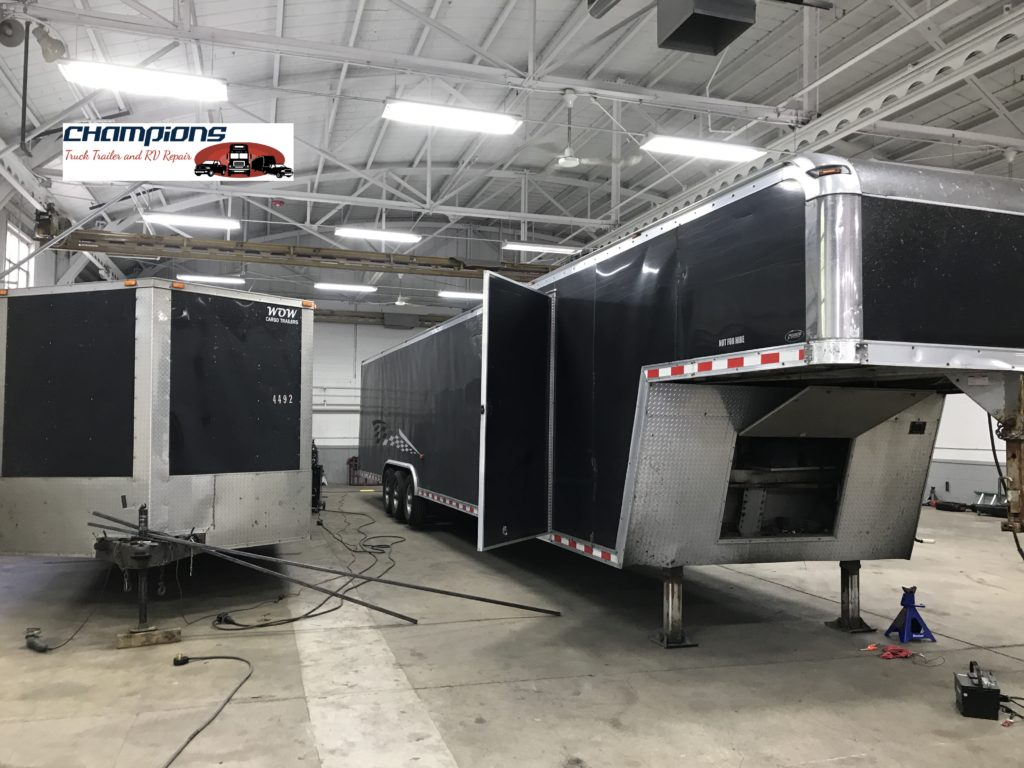 RV floor, walls and roof