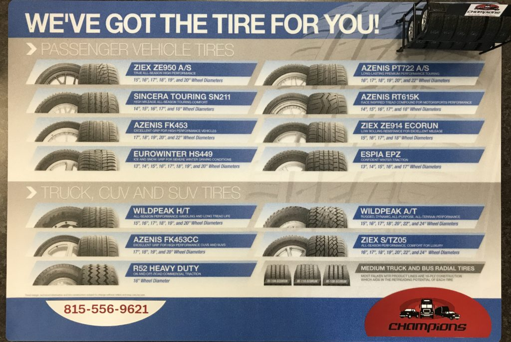 All Tires, All sizes, All Brands